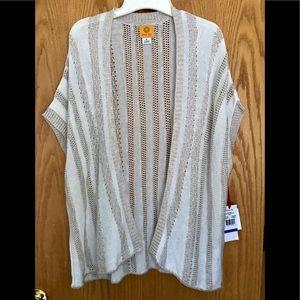 🆕 Ruby Rd. Short Sleeve Open Cardigan XL